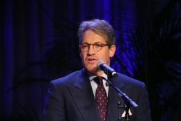 Bestselling author Eric Metaxas address industry leaders at the National Religious Broadcasters dinner in Nashville, Tenn., on Sunday, March 3, 2013.