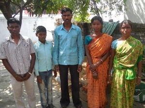 Photo Pastor Tilas Bedia, left, with the family of his brother Chandra Bedia center Morning Star News