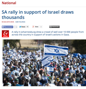 WOW! South Africa holds the largest pro-Israel rally in African history