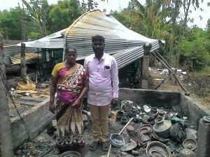 Pastor-John-Muller-and-his-pregnant-wife-lost-their-home-and-church-building-to-arson-in-Tamil-Nadu-state.-Morning-Star-News-300x225