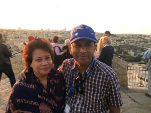 Pastor Daniel and Wife in the City of Jerusalem